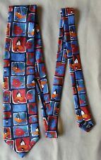 Marks & Spencer Mens Tie - Looney Tunes Daffy Duck - Red & Blue Novelty