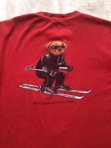 Vintage 90s Polo Bear Ski Long Sleeve Shirt Ralph Lauren Loungewear