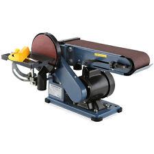EBERTH 375W Levigatrice da banco a nastro disco 150mm legno levigare inclinable