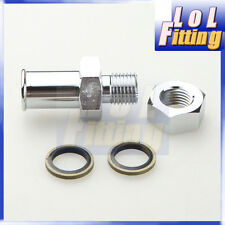 "Turbo Oil Pan Return Drain Plug Adapter Bung Fitting Bolt on 5/8"" Hose No Weld"