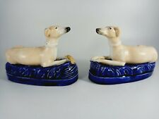 More details for pair of victorian staffordshire pen rests in the form of greyhounds