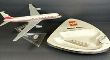 """WESTERN AIRLINES Lot Boeing Plane And 10"""" Ashtray RARE"""