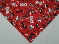 Buster Brown Red Dog Bandana, Custom Made By Linda, S,M,L,xL