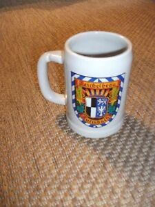 Vintage McCoy USA 6395 Beer Stein Mug Reichelbrau Kulmbach Germany CHIP FREE