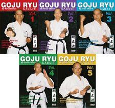 5 Dvd Set Okinawan Goju Ryu Karate kata, traditional training + Teruo Chinen