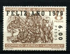 Uruguay 1969 SG#1412 6p On 8p Air, New Year Optd MNH #A26253