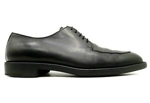 Salvatore Ferragamo Black Leather Split Toe Lace Up Oxfords Shoes Men's 8.5 EE