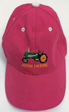 John Deer Girls Junior Pink Baseball Cap Hat w/Small Light Bulbs