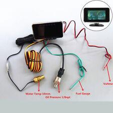 4In1 Digital Truck Oil Pressure Meter + Voltmeter + Water Temp Gauge +Fuel Level