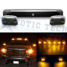 For GMC Sierra 2500HD 3500HD 2007+ Full Amber LED Cab Roof Marker Light Assembly