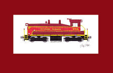"""Effingham Railroad SW1200 #2716 11""""x17"""" Matted Print by Andy Fletcher signed"""