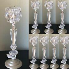 Lot 8 Crystal Flower Candelabra Candle holder Centerpieces