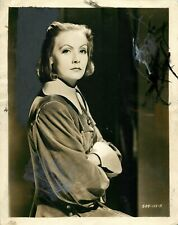 Vintage 1933 Press Photograph - Queen Christina - Greta Garbo