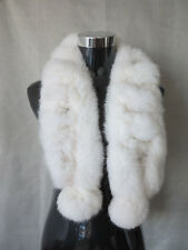 100% real rabbit fur scarf / fur collar /white wrap/cape shipping free
