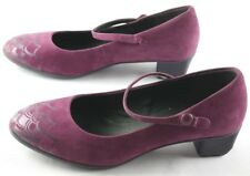 Camper Twins Mary Jane Heels Size 35 Purple Suede Slip On Womens Shoes