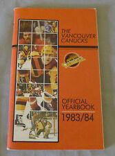 Original NHL Vancouver Canucks 1983-84 Official Hockey Media Guide