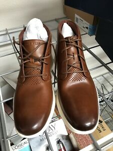 NEW! Men's Cole Haan Grand Tour Chukka Woodbury / Ivory Leather Boots Sz 9.5