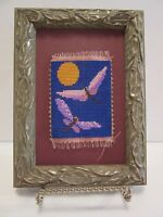 DRAGONFLY PICTURE HAND MADE BEAD MICROMOSAIC FRAMED ORIGINAL DRAGONFLY ARTWORK