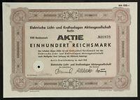 GERMANY 916/W&E -Elektrische Licht- und Kraftanlagen Aktiengesellschaft, 100 RM