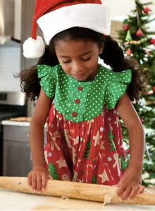 ELEANOR ROSE Christmas Cookies Gingerbread Men Gigi Dress Girls Size 5/6