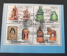 Guinea Bissau-2012-History of Chess Minisheet-Used