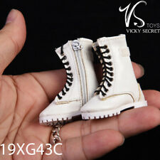 VSTOYS 19XG43 1/6 Scale Zipper Mid Boot Shoes Hollow White Model C Brand New