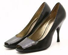 Nine West 9 SWEETNEY Womens Dress Shoes 8.5 M Peep Toe Black Leather Heels Pumps