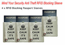 Mind your security =4 passport RFID blocked sleeve shield Anti Theft