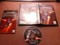 Sony PlayStation 2 PS2 CIB Complete Tested Star Wars Bounty Hunter Ships Fast