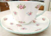 Shelley Fine Bone China Rosebud Cup & Saucer Circa !954 Pattern #13426 England
