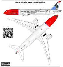 1/144 Boeing 787 Norvegian Air Shuttle decals