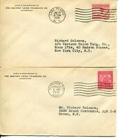 USA #716 #717 FDC First Day Cover Western Union Telegraph Postage Collection