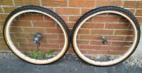 "Vintage 1950's Bicycle Skiptooth 24"" Wheel Set with Bendix Coaster Brake"