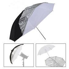 "Studio Umbrella 33"" 2in1 Flash Photo Translucent Black Soft Light Photography UK"