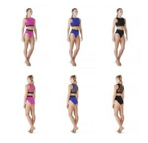 BLOCH Ladies Dance Zip Front Crop Top or High Waisted Dance Briefs / Knickers
