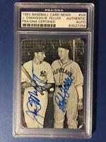 1982 Baseball Card News Joe Dimaggio And Bob Feller Dual Autographed PSA/DNA CER