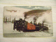 old postcard-  ROTARY SNOW PLOW TRAIN, DENVER, NORTHWESTERN & PACIFIC RAILROAD
