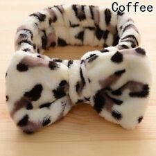 Cute Big Bow Dot Striped Soft Hair Band Wrap Headband for Bath Spa Make Up Use