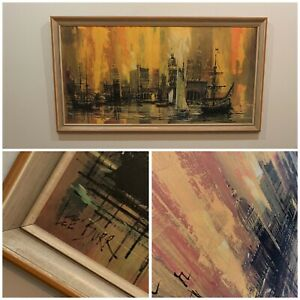 VINTAGE 1962 Mid Century Lee Burr Port Of Call Artwork PICK UP ONLY