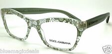 Dolce&Gabbana Eyeglasses DG 3198 2855 Sage Lace Plastic Cat Eye Frame 52mm/726
