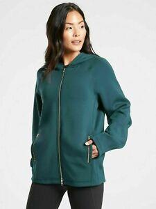 ATHLETA Prospect Jacket S Small   Nordic Teal Hooded Zip CYA Sweatshirt $158 NEW