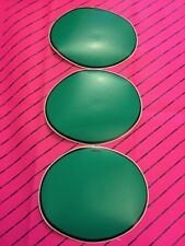 Vintage Twin Shock Motocross Number Backgrounds Ovals Green X 3 Plates