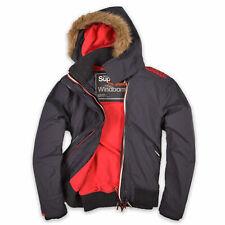 Superdry Herren Jacke Jacket Gr.L (wie M) Windbomber Fleece-Futter Grau 94693
