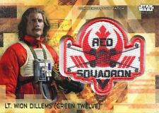 Star Wars Rogue One Series 2 Gold Patch Relic Card Lt. Wion Dillems Rebel Sq.