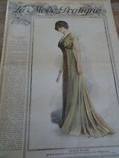 ANCIENNE REVUE MODE PRATIQUE PATRONS CACHE CORSET/  TABLIER 4 ANS  1909 N°52