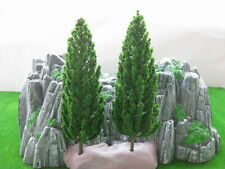 S16060 10pcs Model Pine Trees Deep Green for O G Scale Layout 160mm