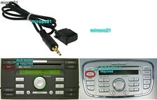 FORD 6000 CD Aux Input Cavo Adattatore 6000CD si collega MP3 IPOD, IPHONE, IPAD,