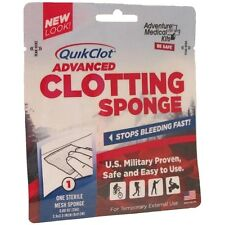 "QuikClot Sport, 25g Hemostatic Agent, Blood Stopper 3.5"" X 3.5"""
