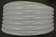 """3/4"""" x 100' - Flexible PVC Water Suction & Discharge Hose - Clear w/White Helix"""