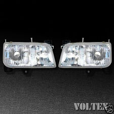 1999-2000 Cadillac Escalade Headlight Head light Lamp Clear lens Halogen Pair